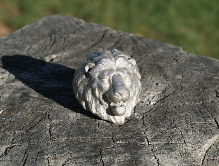 Lion head Silver ring by ZivDesigns