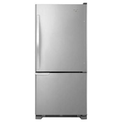 Whirlpool 30 in. W 18.7 cu. ft. Bottom Freezer Refrigerator in White-WRB119WFBW - The Home Depot