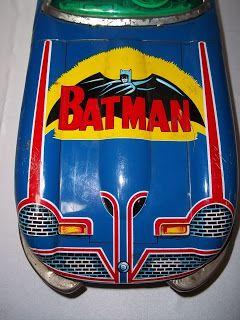 tin toys antique | The Bat Channel!: Vintage tin Batmobile toy