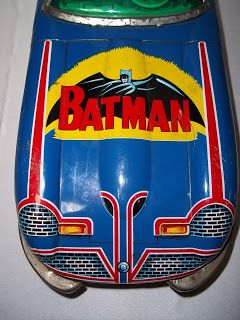 tin toys antique | The Bat Channel!: Vintage tin Batmobile toy