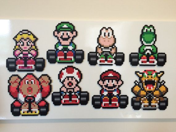 Super Mario Kart magnets by Beardian on Etsy