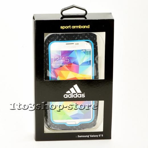 Griffin Technology Adidas Sport Armband Case For Samsung Galaxy S7 S6 S5 (blue/black) New S5 S6 Black & Blue Neoprene Gb38824