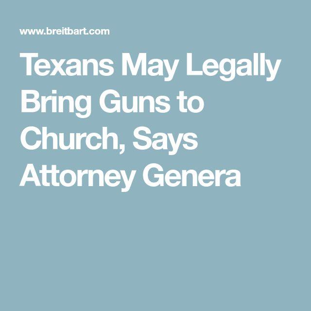 Texans May Legally Bring Guns to Church, Says Attorney Genera