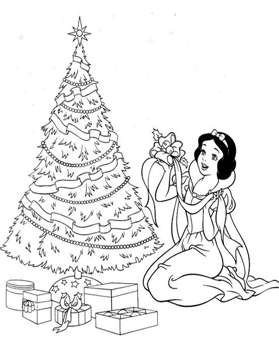 The Most Incredible Beautiful Princess Christmas Coloring Pages