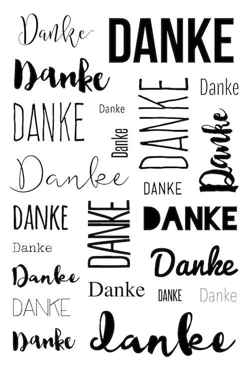 """Klartext Stempelset """"23 mal Danke""""  zum Kartenkit November 2016 von www.danipeuss.de #dpNovemberkit16 #danipeuss #kartenkit #stempeln #klartext"""