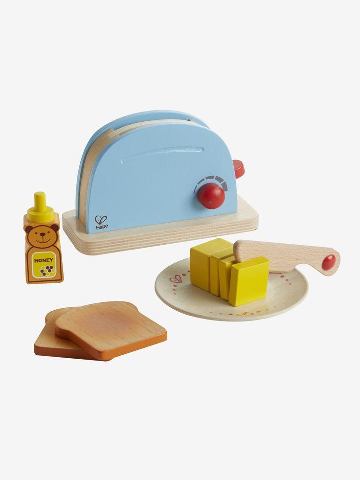 Grille-pain en bois Hape multicolore - C'est l'heure du petit déjeuner ! Un grille-pain pour s'amuser à préparer de délicieux toasts. www.vertbaudet.fr