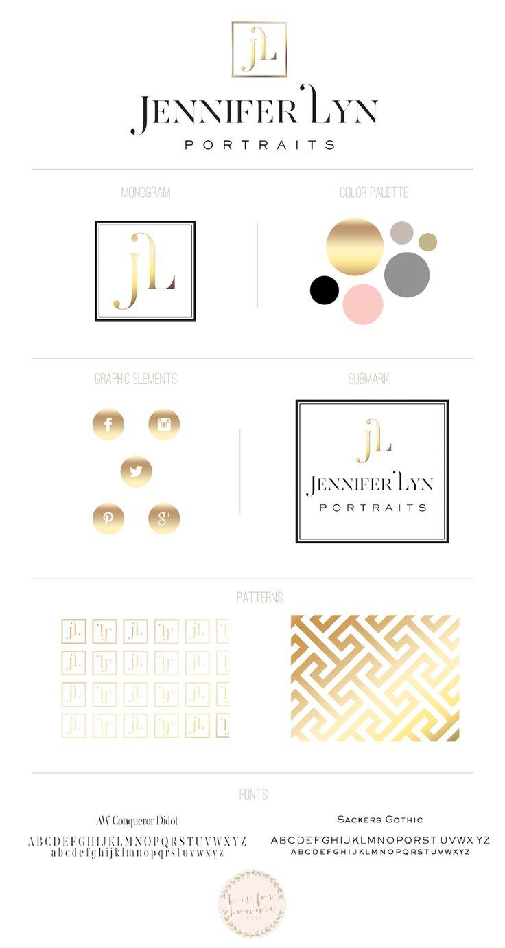 logo + brand design for Jennifer Lyn Portraits   b is for bonnie design