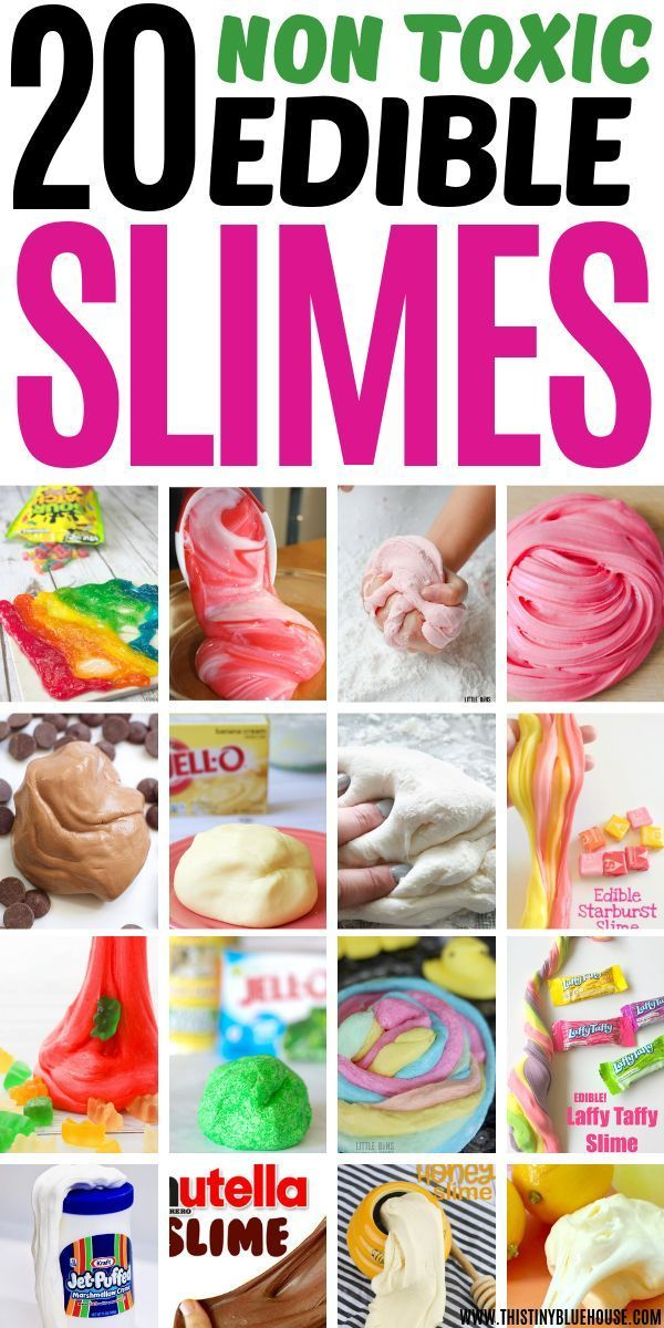 DIY Craft: The ultimate collection of BEST edible slime recipes for kids. Made without borax, glue or other dangerous chemicals these best edible slime recipes are not only insanely fun BUT super safe for kiddos to play with. #slimerecipes #slimerecipeswithoutborax