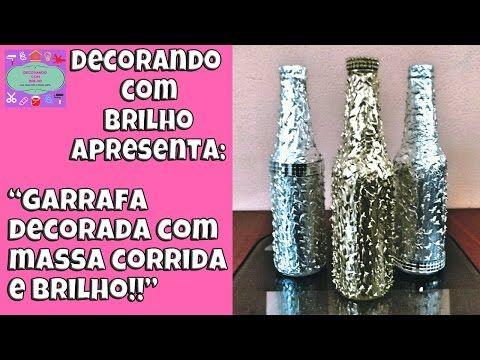 DIY   GARRAFA DECORADA para ENFEITE MARAVILHOSA - Decorando Com Brilho - YouTube