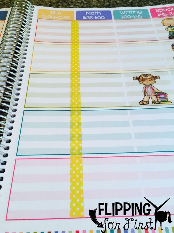 DIY tips to organize your Erin Condren Teacher Planner!
