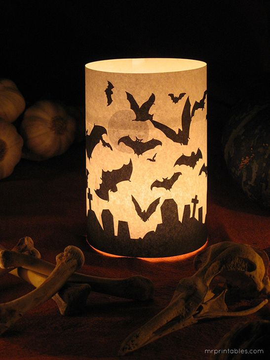 Halloween candle wrapper printable
