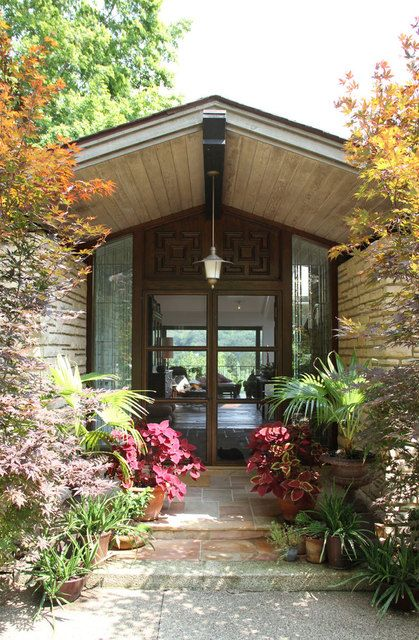 amy butler house tour. Like the different foliage.: House Front, House Tours, Apartment Therapy, Front Doors, David Butler, Creative Textiles, Exterior Doors, Modern Home, Amy Butler