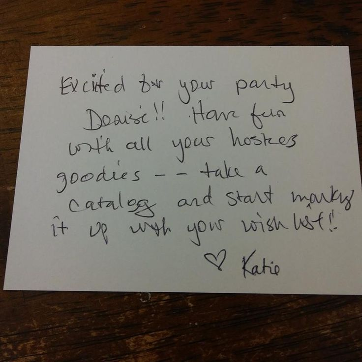 example of a personalized note to include in your host packets for Jamberry parties (online or in home)