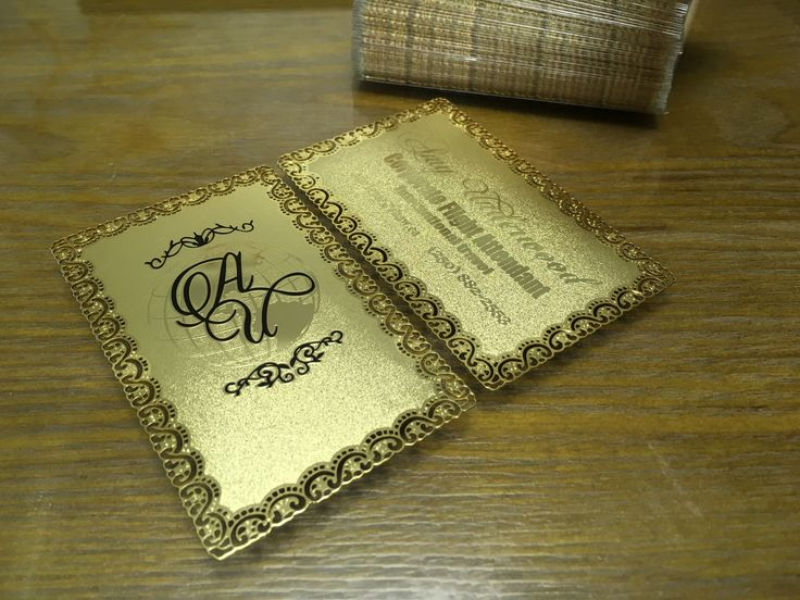 These classy gold metal cards were made for a freelance flight attendant who does international travel and WOW did they turn out perfect 🌟✔🌟 #ohmyprint #printing #metalbusinesscards #goldcard #vip #flightattendant #worldtraveler #flight #corperate #privetjet
