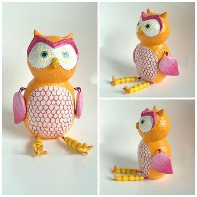 """Orange Owl"" by Holly St.Denis"