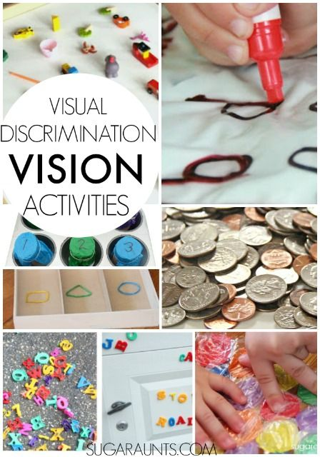 Visual Discrimination Activities for kids - great home activities for OT occupational therapy.