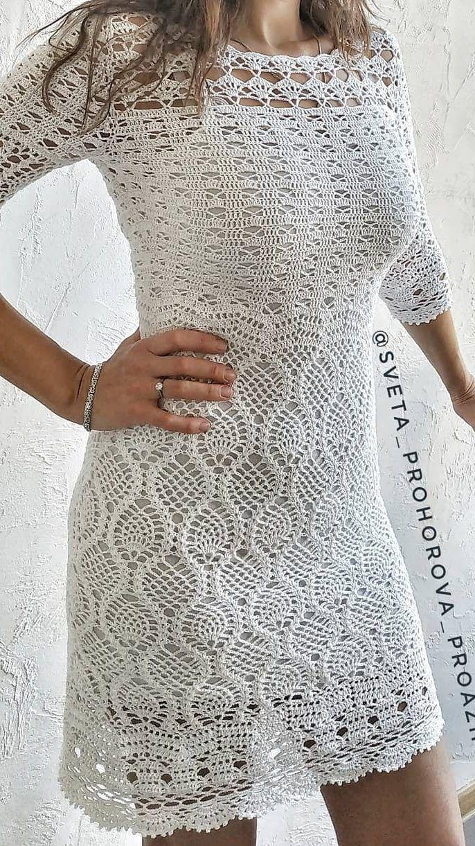 Patrones vestidos de ganchillo para mujeres