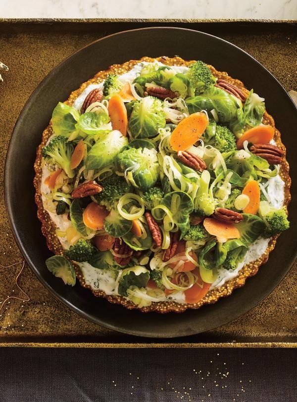 Recette de tourte végé au quinoa et à la patate douce de Ricardo
