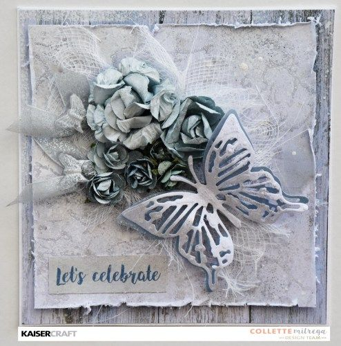 'Let's Celebrate' Card by Collette Mitrega Design Team member for Kaisercraft Official Blog Group Post using their 'Indigo Skies' collection [April 2017]  and Featuring Textured Stamp 'Marble.' Learn more at kaisercraft.com.au/blog ~ Wendy Schultz ~ Cards 1.