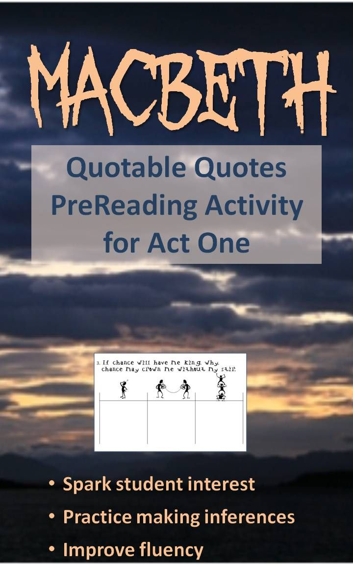 80 best ideas about macbeth activities macbeth quotable quotes anticipatory activity macbeth act one