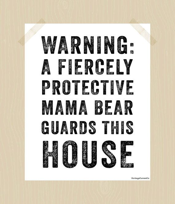 Printable Mama Bear 8 x 10 Fiercely by HeritageCurrentCo on Etsy