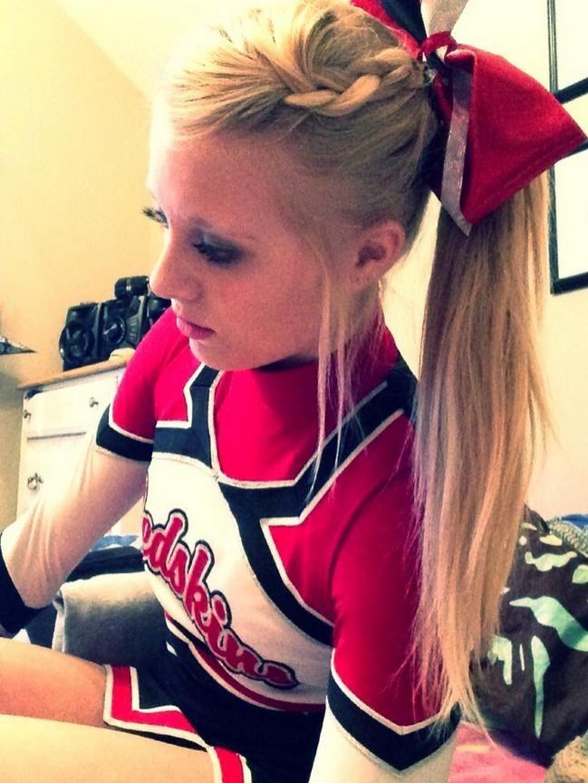 Cheerleading hair stlye