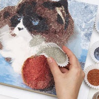 "Glitter painting how-to  @Sarah O'Haver    oh my I just laughed out loud so hard... I was like..""who would do this?!"" and then for some reason an image of you making glitter pictures of kittens came into my head... can't stop laughing!!!"