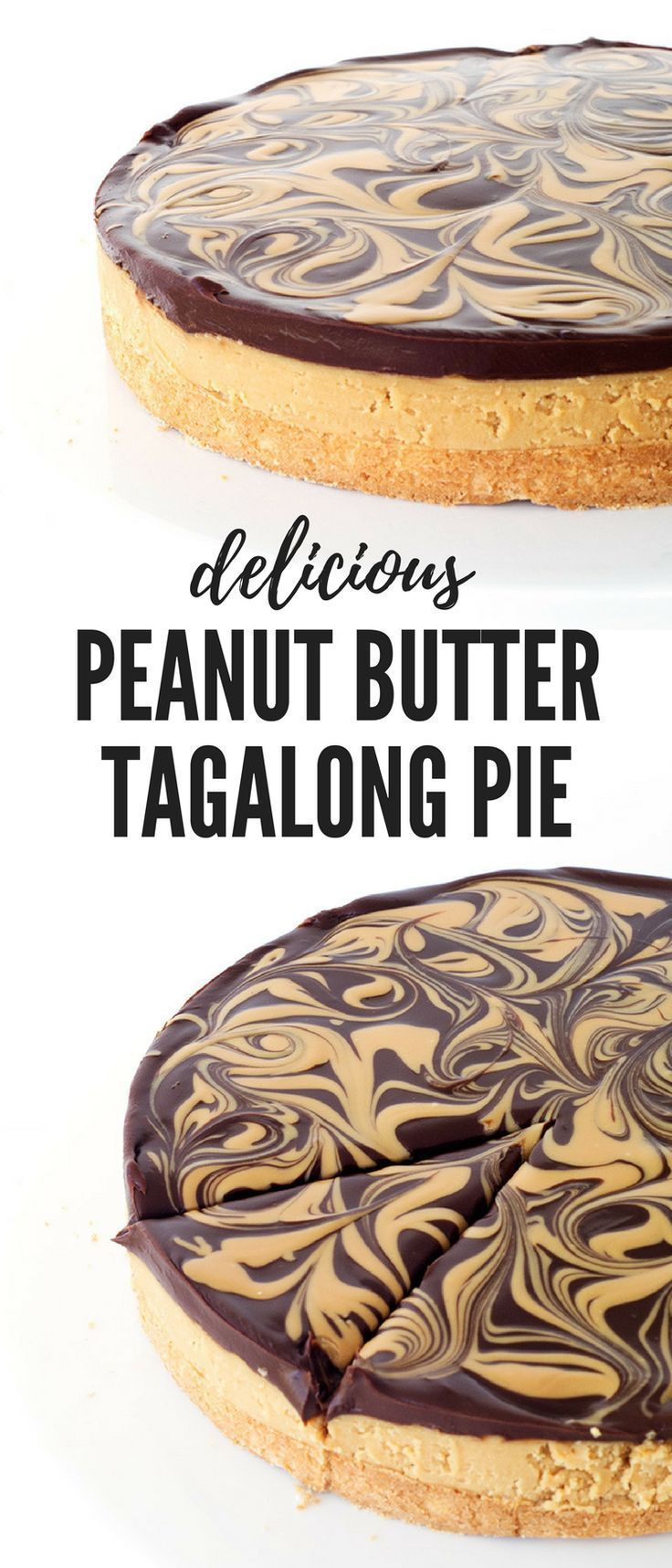 Chocolate peanut butter tagalong pie recipe desserts