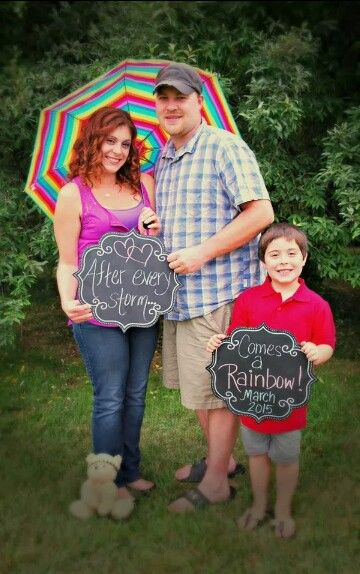 Rainbow baby announcement! Coming March 2015! **edit** Miss Abigail Rae arrived safely on March 4, 2015 ♡♡♡♡ #rainbowbaby #pregnancyannouncement  #angelbrother