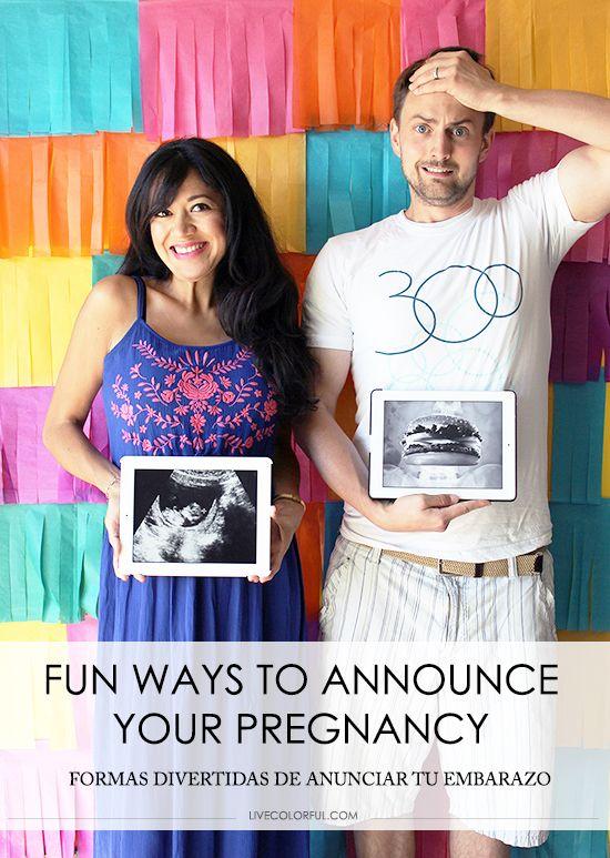 Estás esperando bebe? o conoces a alguien que está a punto de dar la noticia? No te pierdas estas ideas originales de anunciarle al mundo tu embarazo!