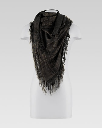 Shimmer GG Pattern Shawl by Gucci at Neiman Marcus.
