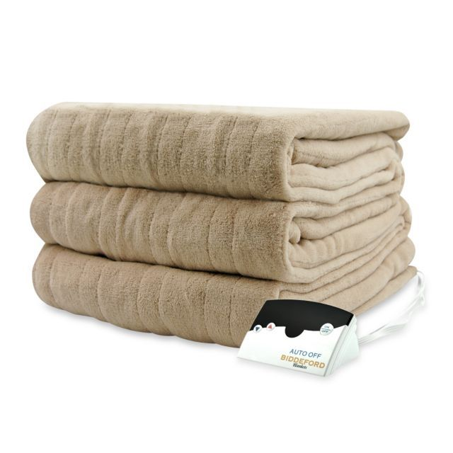 King size - product image for Biddeford Blankets® Micro Plush Heated Blanket - LINEN color