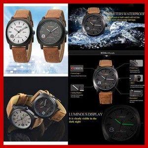 jam tangan kulit couple modren dan trendy