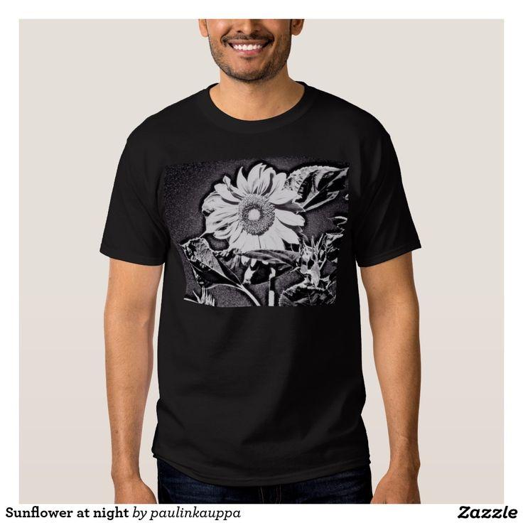 Sunflower at night Men's tee shirt