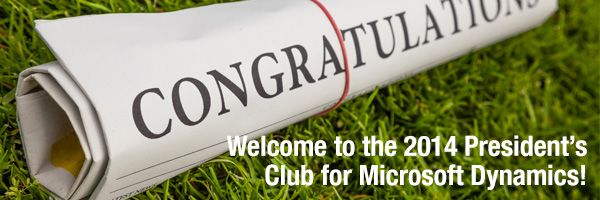 Welcome Alterna to the 2014 President's Club for Microsoft Dynamics
