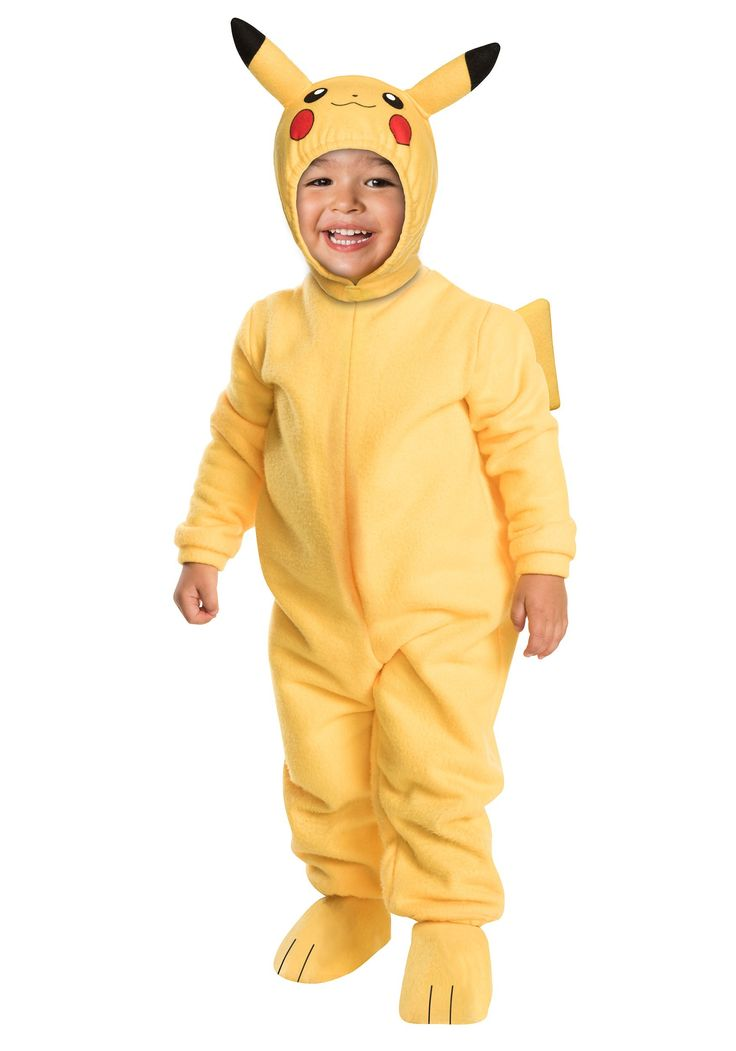 Its time to turn your toddler into the most recognizable Pokemon with this Toddler Deluxe Pikachu Costume. They are sure to become the most electric toddler in the room.