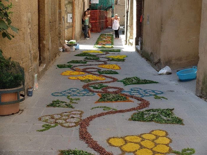The Infiorata festivals throughout Italy are absolutely a site worth seeing.