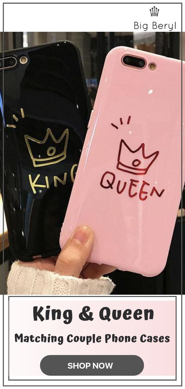 32ec78ee8d Are you the couple that loves defining couple goals? Get your hands on the matching  king and queen phone case and click away.