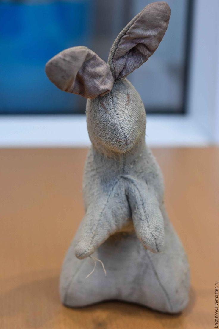 """Купить Антикварный заяц """"Хотьково"""" 1920 года редкий! - комбинированный, винтаж бутик, кукла антикварная"""
