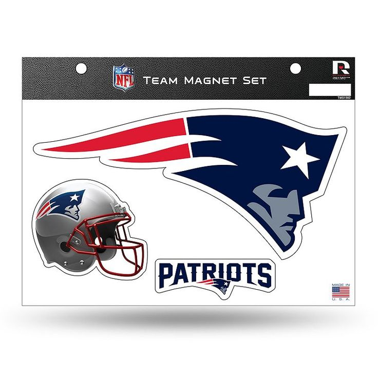 New England Patriots Team Magnet Set, Multicolor