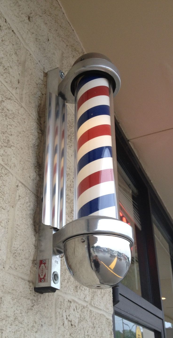 We will definitely have a classic barber's pole outside of the shop. It's the perfect old school marketing tool.