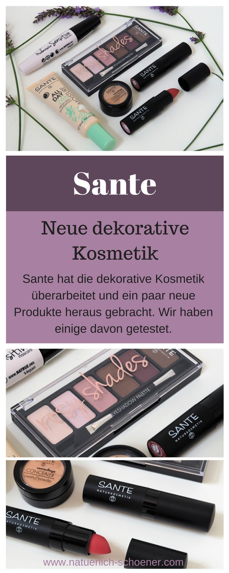 Wir haben die neue dekorative Kosmetik von Sante getestet. Lest hier, wie uns die Produkte gefallen haben. #naturkosmetik #sante #beauty