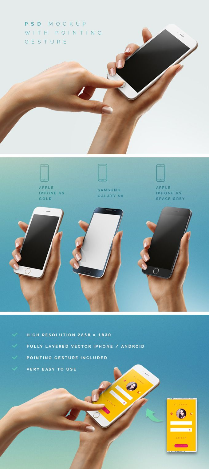 Free iPhone 6 / Android Mockup (32 MB) | By LazyCrazy on pixelbuddha.net | #free #photoshop #mockup #iphone6 #android