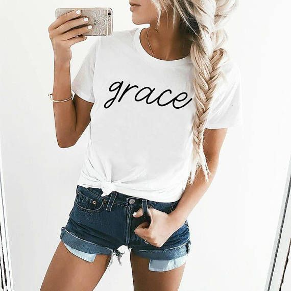 grace t-shirt / Christian shirt/ bible shirt / gym top / graphic tee  women's t-shirt / women's workout tee  by ClothingByShane