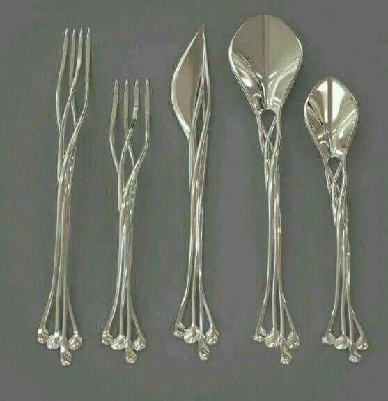 Elvish Knife, Fork And Spoon Set. Flatware ...