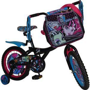 """Navigator Велосипед 16"""", Monster High, ВН16050  — 6043р. ------- Размеры (ВхШхГ) 90х17х43 мм    Дополнительная информация  Велосипед 16"""" Навигатор Monster High, Mh-тип, /сумка/страховочные колеса, /односоставной шатун /вставки в кол/накладки на руль/пластиковые крылья, /стальные цветные обода Информация с сайта производителя"""