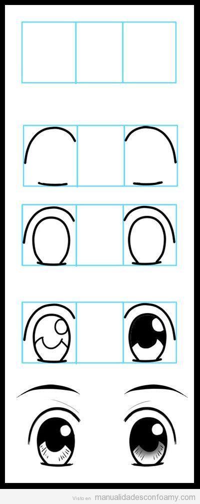 Cómo dibujar ojos en muñecas de goma eva, muy fácil y paso a paso | Manualidades con Foamy | Fotos, vídeos, tutoriales e ideas para hacer manualidades con foamy para niños