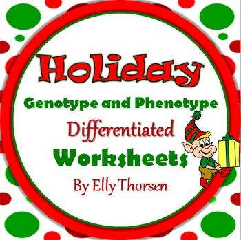 Middle and high school students will have fun with these differentiated holiday genetics worksheets