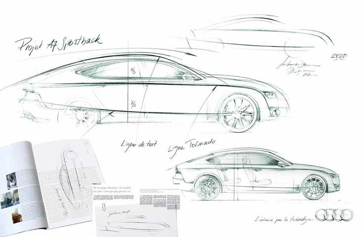 illustration voiture AUDI A7 Florence Gendre #illustration #design #conceptcar #Audi