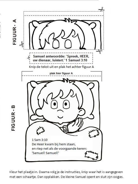Samuel Werkje Sunday School Coloring Pages Hannah